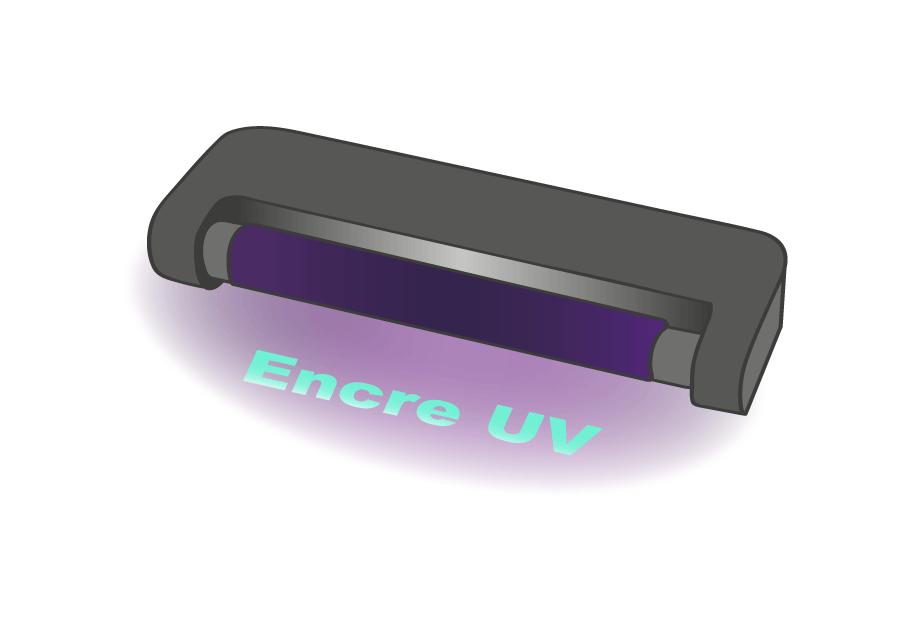 Encre et Lampe UV