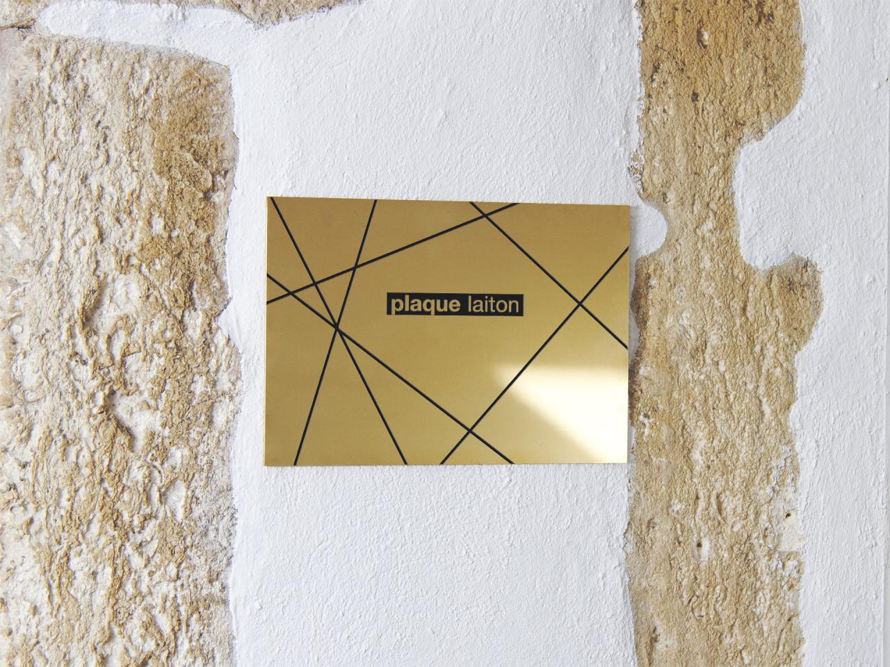Plaque Gravée Laiton