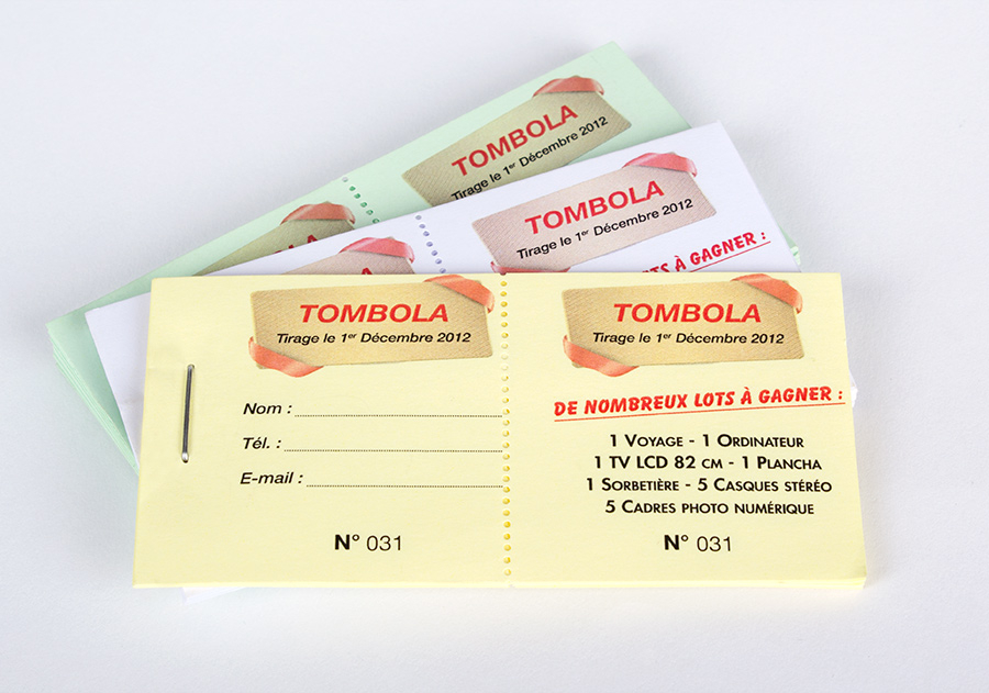 Tickets Tombola